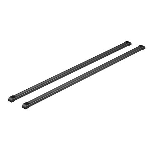 Quadra, coppia barre portatutto in acciaio - S - 108 cm