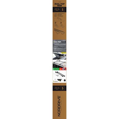Rail-Top, coppia barre portatutto in acciaio - S - 108 cm 6