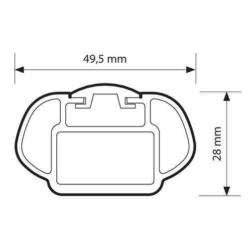Rail-Pro, aluminium roof bars, 2 pcs - L - 127 cm 2