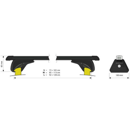 In-Rail Steel, coppia barre portatutto in acciaio - M - 120 cm 3