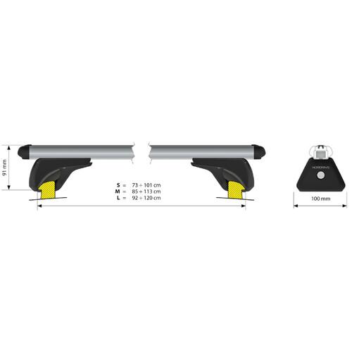 In-Rail Alu, aluminium roof bars, 2 pcs - L - 127 cm 3