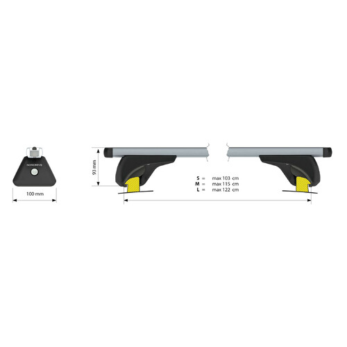 Nowa, aluminium roof bars, 2 pcs - M - 120 cm 3
