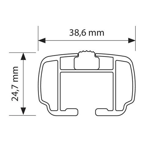 Helio, coppia barre portatutto in alluminio - M - 120 cm 3