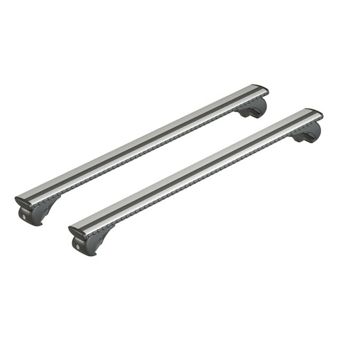 Silenzio Rail, pair of aluminium roof bars - L - 128 cm
