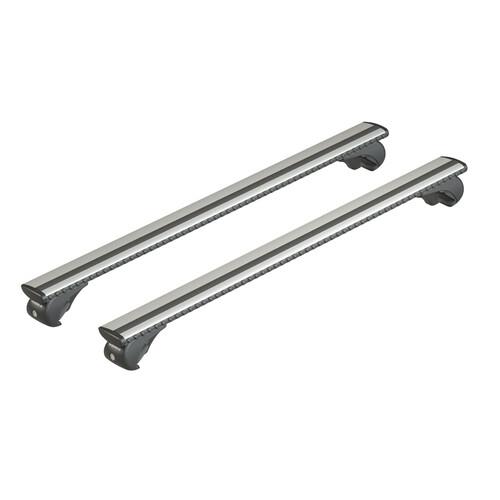 Silenzio Rail, coppia barre portatutto in alluminio - XL - 140 cm