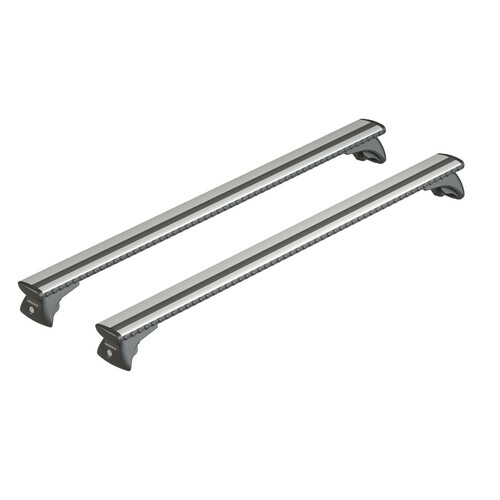 Silenzio In-Rail, coppia barre portatutto in alluminio - L - 127 cm
