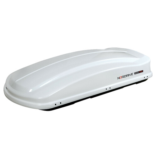 Box 530, box tetto in ABS, 530 litri - Bianco lucido