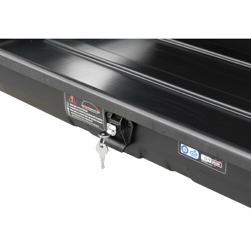 Box 280, ABS roof box, 280 ltrs - Embossed black 4