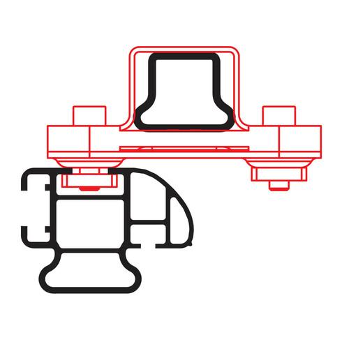 Kargo Rack System - Set 2 adattatori per barra 3