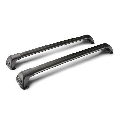 Flush Black, pair of telescopic aluminium roof bars
