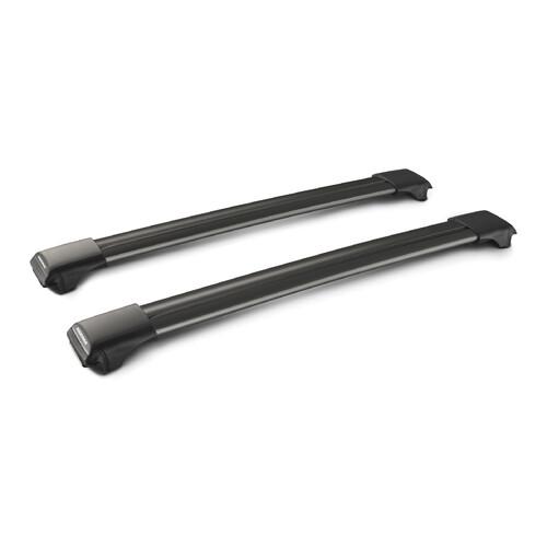 Rail Black, pair of telescopic aluminium roof bars